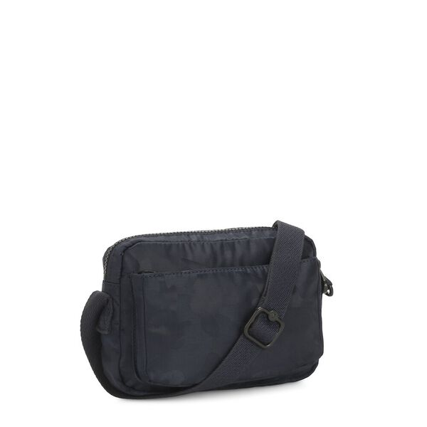Abanu Small crossbody bag, Satin Camo Blue, hi-res