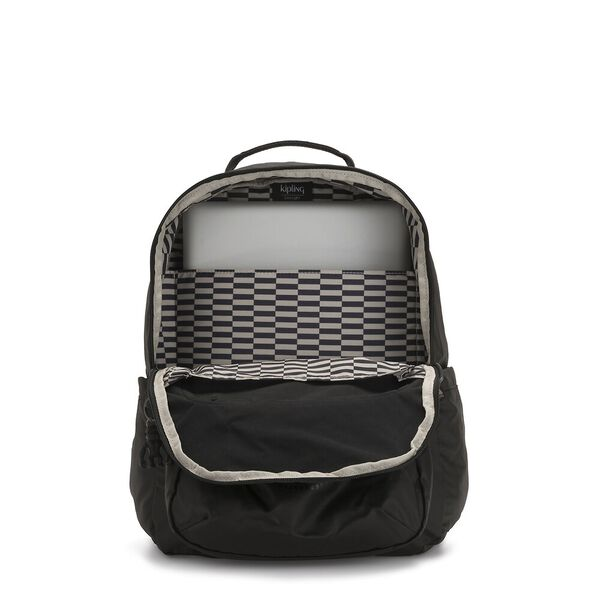 Seoul Backpack with Laptop Compartment, Raw Black, hi-res