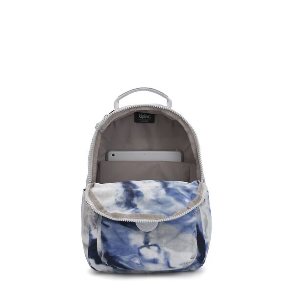 Seoul S Small Backpack, Tie Dye Blue, hi-res